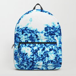 Bright Blue Marbling and Geode Stone Crystal Look Backpack