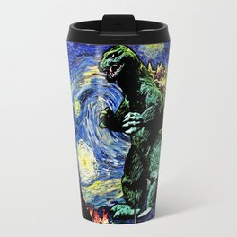 Godzilla versus Starry Night Travel Mug