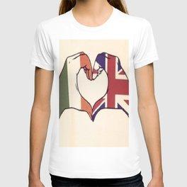 One Direction Inspired UK/Irish Love Heart T-shirt