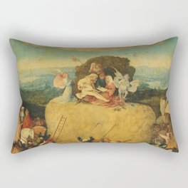 The Haywain Triptych - Hieronymus Bosch Rectangular Pillow