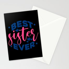 Quote - Best Sister - dark Stationery Cards