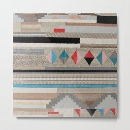 V44 Cool Moroccan Boho Design Metal Print