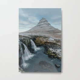 Kirkjufell Waterfall   Landcape Photography Metal Print