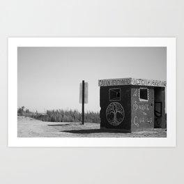 Shave The Quails (black & white) Art Print