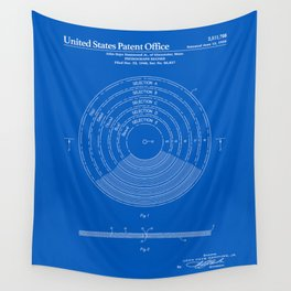 Phonograph Record Patent - Blueprint Wall Tapestry