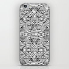 Abstract Mirror Black on White iPhone & iPod Skin