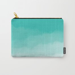 Aqua Watercolor Ombre Carry-All Pouch