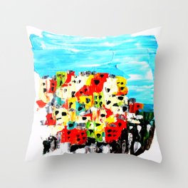 Cinque Terre, Italy Throw Pillow