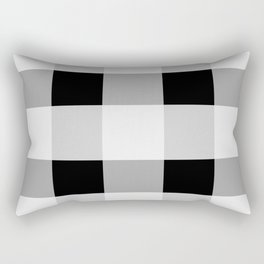 Black and white checkered pattern Rectangular Pillow