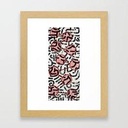 Lotus Spatter Framed Art Print