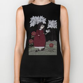 Winterbird, or Hope is a Thing With Feathers Biker Tank