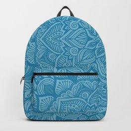 Mosaic Blue Mandala 1 Backpack