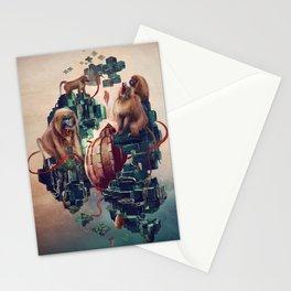 monkey temple Stationery Cards