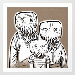 C'thulu Family Portrait Art Print