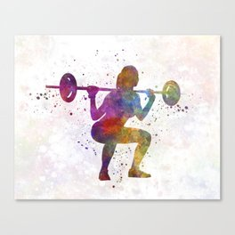 Body buiding woman isolated Canvas Print