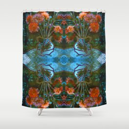 Dahlias Photographic Pattern #2 Shower Curtain