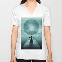 nordic V-neck T-shirts featuring Nordic magician by Tony Vazquez