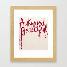 Awkward Beautiful, Silk Graffiti by Aubrie Costello Framed Art Print