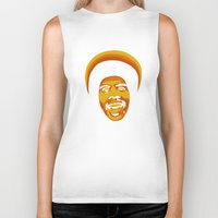 70s Biker Tanks featuring 70s style Disco Afro [cutout] by D-fens