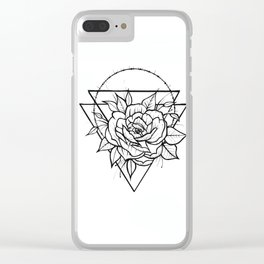 Crown Of Thorns - B&W Clear iPhone Case