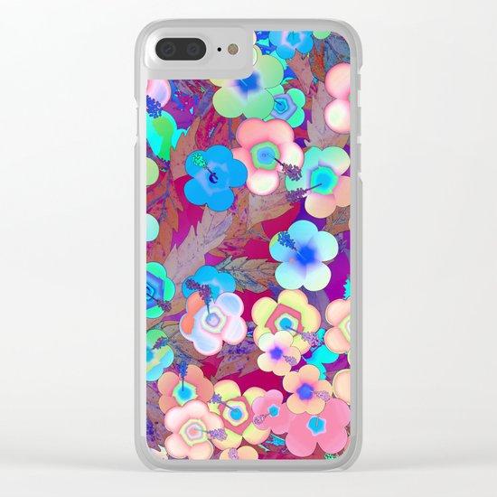 Hippie Hibiscus Clear iPhone Case