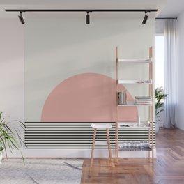 Sunrise / Sunset II - Pink & Black Wall Mural