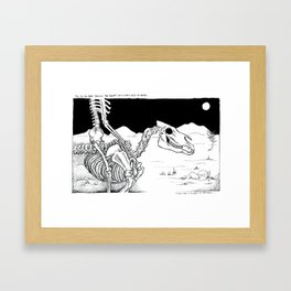 Horse With No Name Framed Art Print