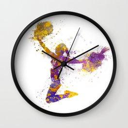 young woman cheerleader 03 Wall Clock