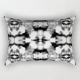 Tie Dye Blacks Rectangular Pillow