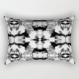 Tie Dye Blacks Rectangular Pillow