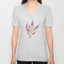 Weaver's Dream / Geometric Meets Floral Unisex V-Neck