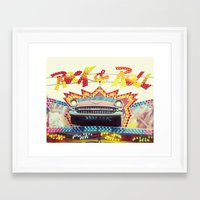 rock and roll Framed Art Prints featuring Rock & Roll by Libertad Leal Photography