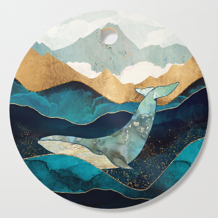 Blue Whale Cutting Board