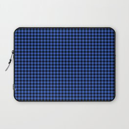 Mini Black and Royal Blue Cowboy Buffalo Check Laptop Sleeve