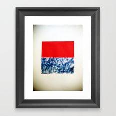 SKY/ORG Framed Art Print