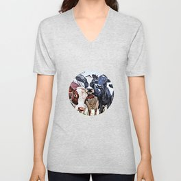 Funny cows Unisex V-Neck