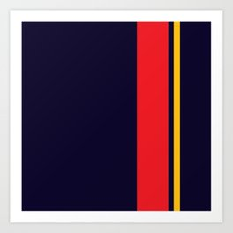 Navy Racer Art Print