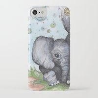 baby elephant iPhone & iPod Cases featuring Baby Elephant by Retta Ritchie-Holbrook
