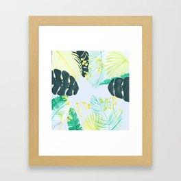 Acid leaf Framed Art Print