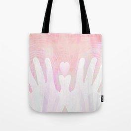 Healing Hands Pink Tote Bag
