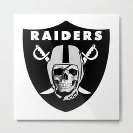 Raider Nation Skull Metal Print