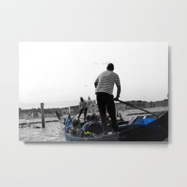 True mirror black and white selective color print street photography urban art Metal Print