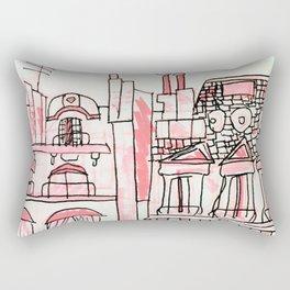 Pink Parisian Architecture Rectangular Pillow