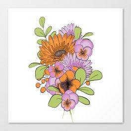 Flowers Bouquet Canvas Print