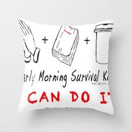 Morning Survival Kit Throw Pillow