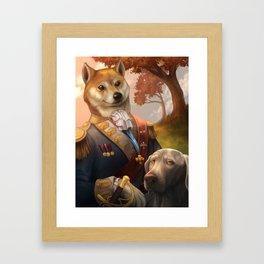 Royal Shiba Dog Portrait Framed Art Print