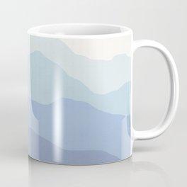 Abstract, Blue, Landscape, Scandinavian, Modern art, Art, Minimal, Wall art Print Coffee Mug