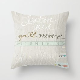 Listen kid! Throw Pillow