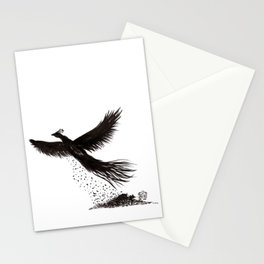 Phoenix rising from the ashes Stationery Cards