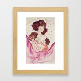 Expanding heart Framed Art Print